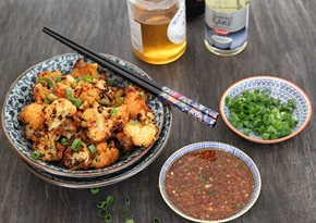 Roasted cauliflower with honey and garlic recipe