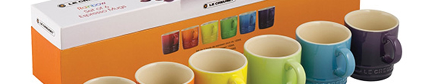 Win one of two Le Creuset espresso mug sets worth £40 each