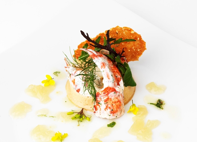 Lobster thermidor mousseline with ginger jelly