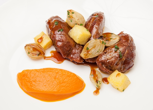 Pressure-cooked braised Welsh Lamb fore shank, parsnip bubble and ...