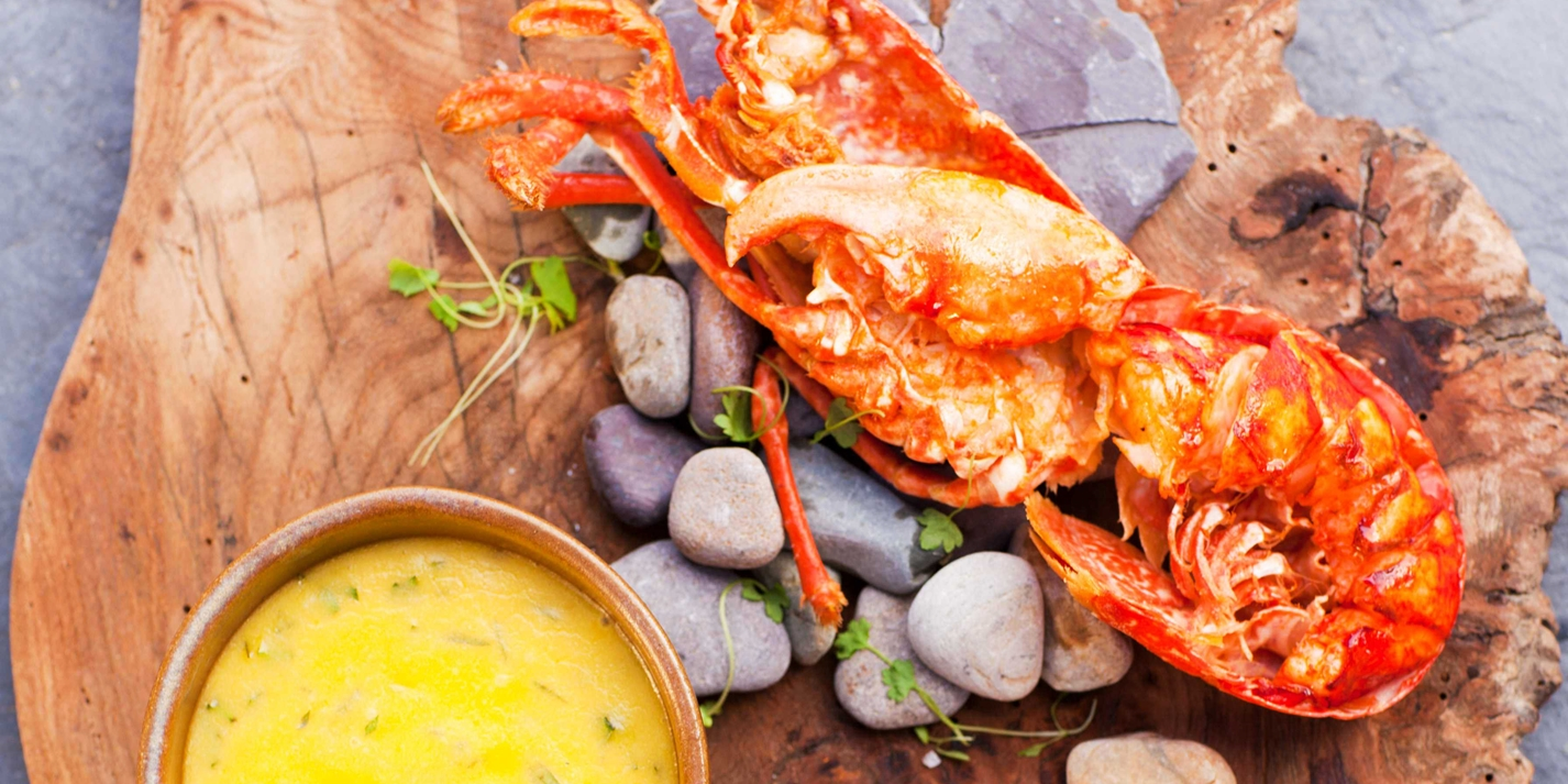 Lobster recipe with triple cooked chips great british chefs for Red lobster fish and chips