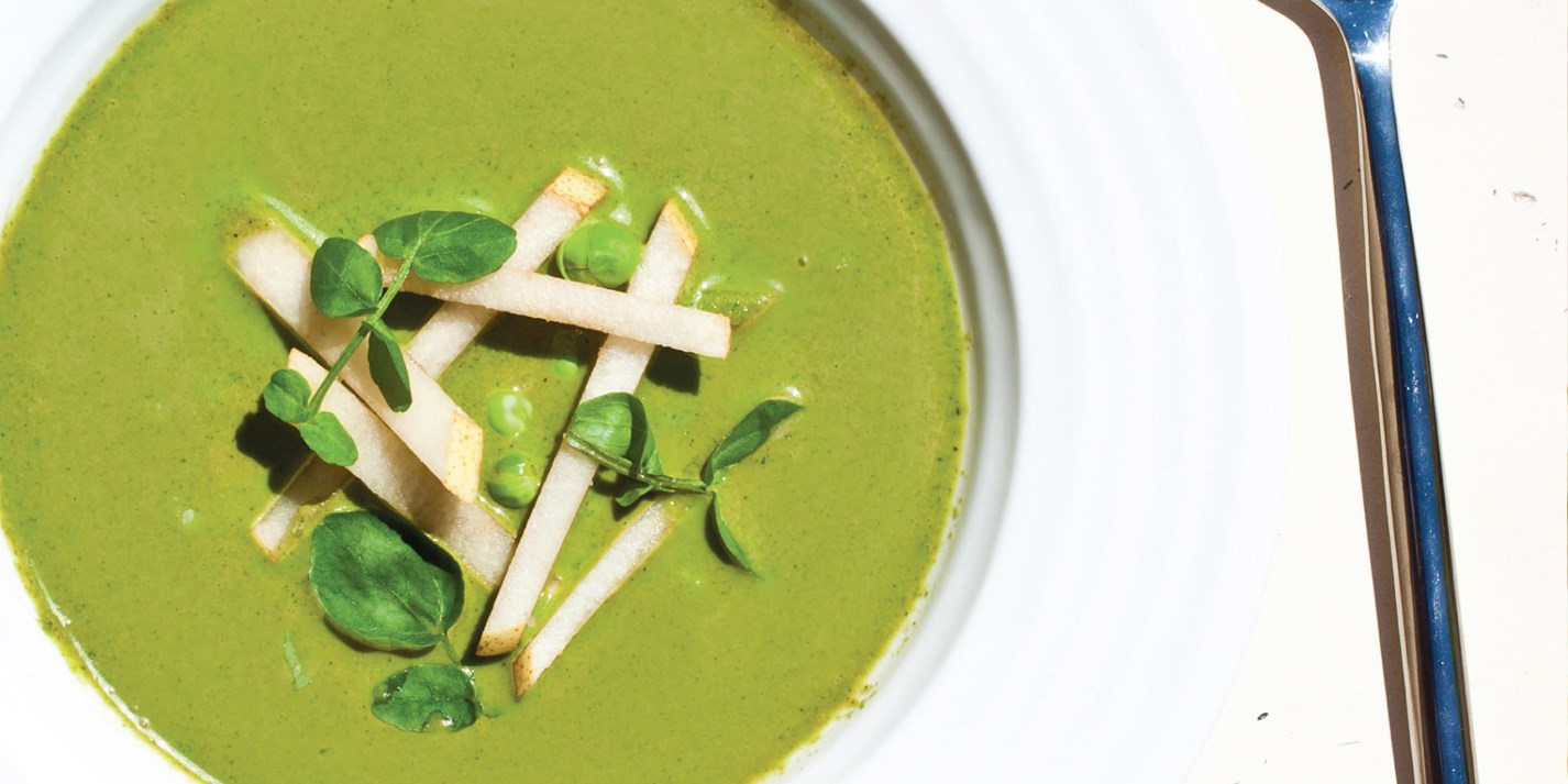 Chilled Watercress Soup Recipe With Asian Pear - Great British Chefs