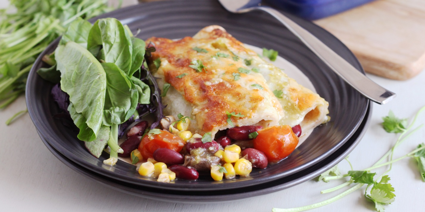 Chicken-Filled Enchiladas With Tangy Tomatillo Sauce Recipes ...